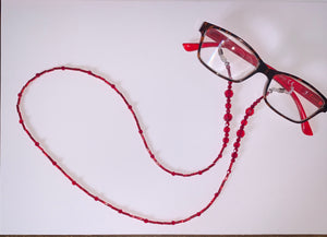Eye Glasses Chain – Ruby – July Birthstone colour – Mothers Day - Birthday