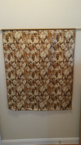 Large Beige & Brown Camo Flag