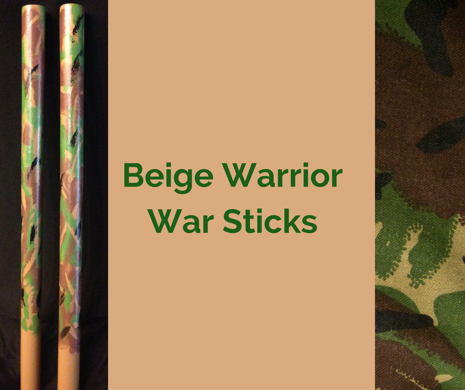 Beige Warrior War Sticks
