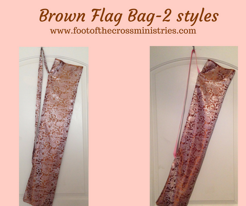 Brown Brocade Flag Bag