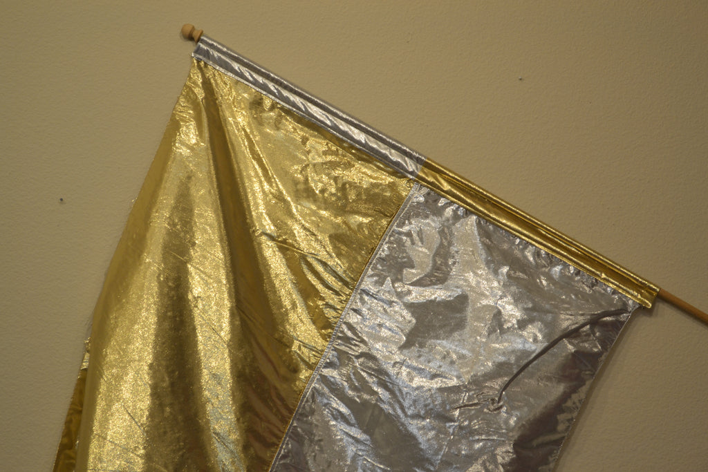 Silver & Gold Lame Flag