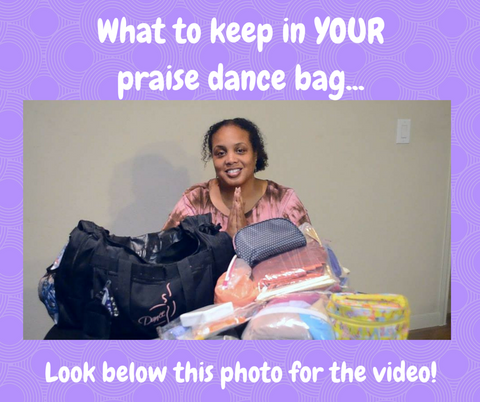 What to keep in your praise dance bag. Video link below!