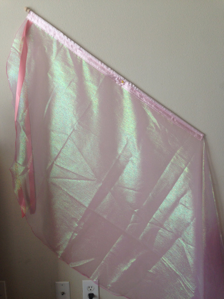 Crystal Pink Angel Wing Ribbon Flag