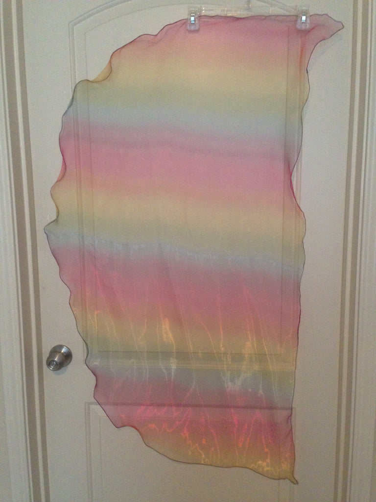 Organza Angel Wing Dance Scarf-Rainbow