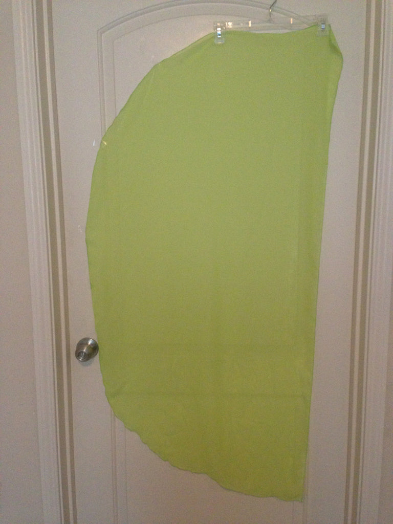 Angel Wing Dance Scarf-Lime Green