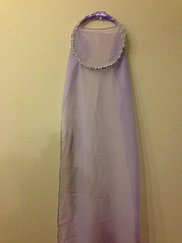 Lavender Fabric Tabret (Long)