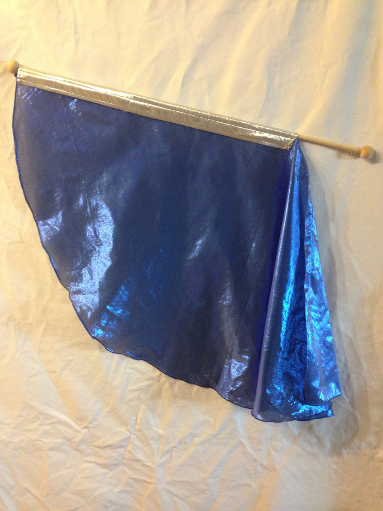 Royal Blue & Silver Angel Wing Children's Flag