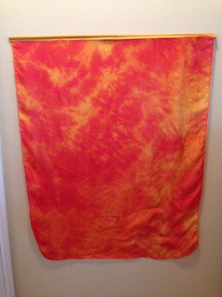 Fire Silk Dyed Flag