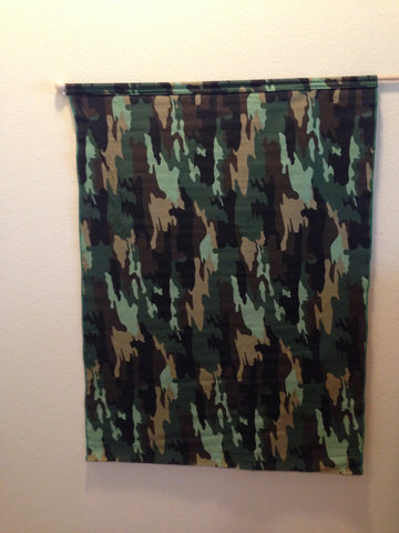 Green Camo Flag (Cotton Fabric)