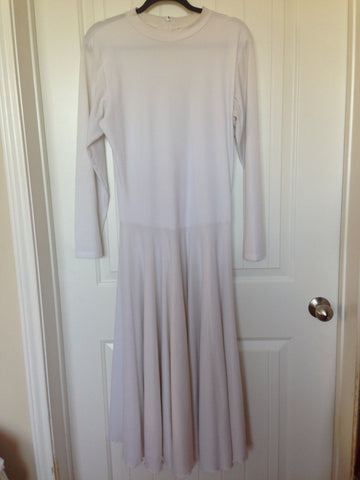 White Turtleneck Dance Dress