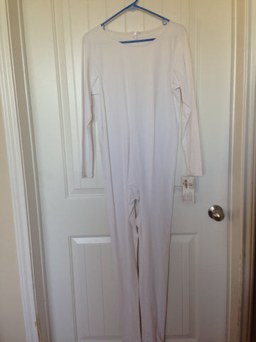 Crewneck White Unitard (BRAND NEW)