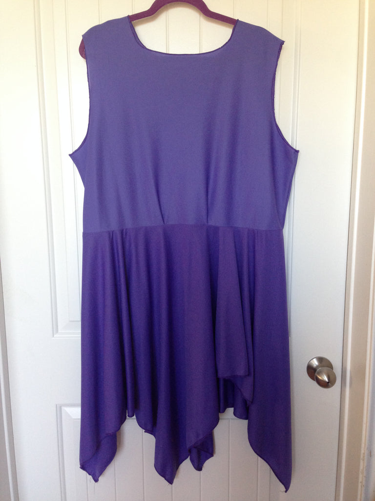 Purple Knit Overlay