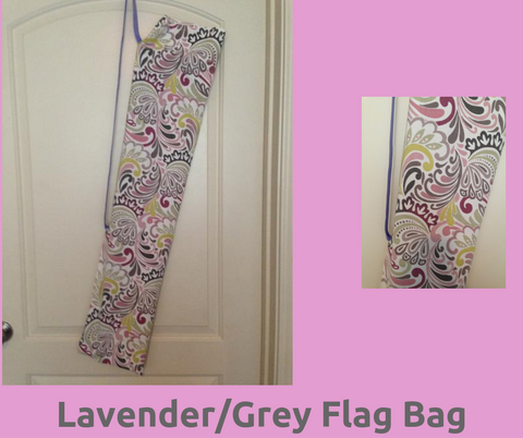 Lavender/Grey Flag Bag