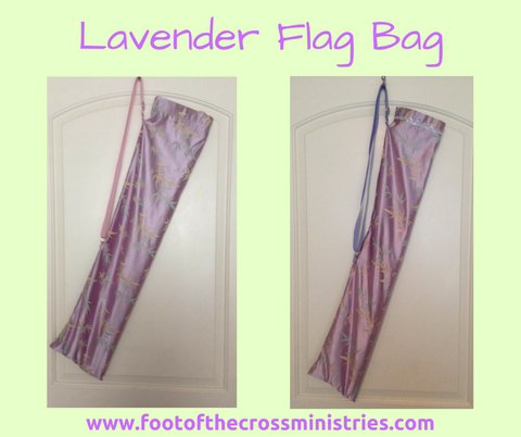 Lavender Floral Flag Bag