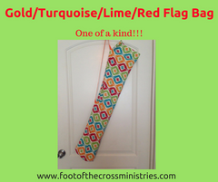 Gold/Turquoise/Lime/Red Flag Bag