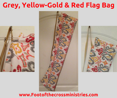 Grey/Yellow-Gold/Red Flag Bag