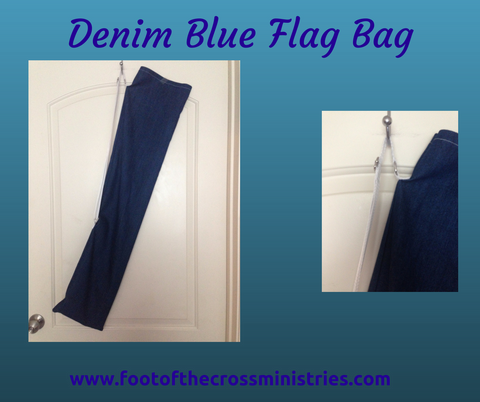 Denim Blue Flag Bag