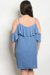 Diana Blue Plus Size Dress