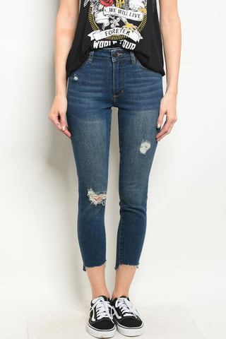Tia Dark Blue Denim Jeans