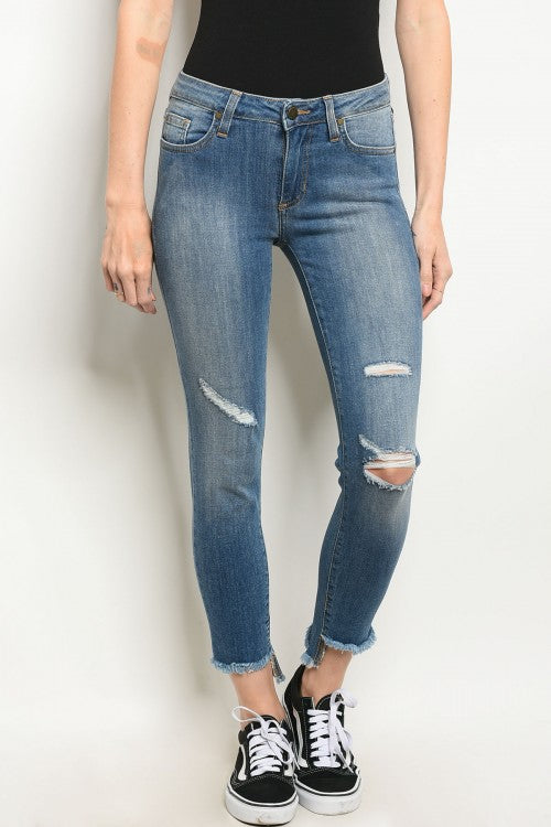 Livia Mid-Rise Medium Denim Jeans
