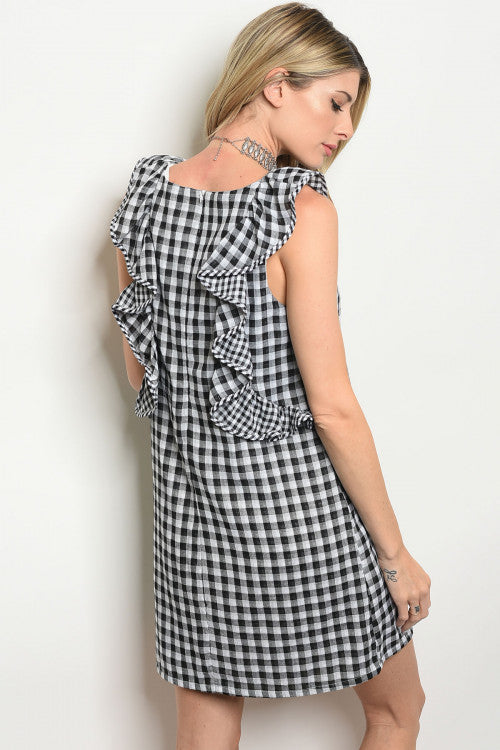 Black & White Checkered Gingham Dress