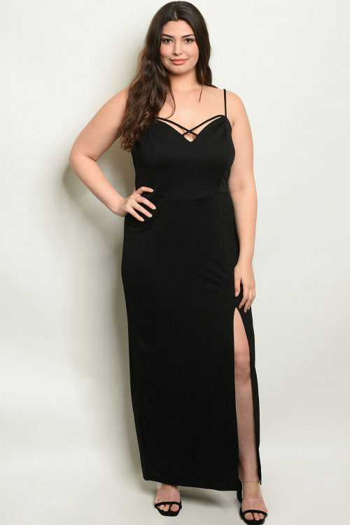 Aria Black Maxi Plus Size Dress