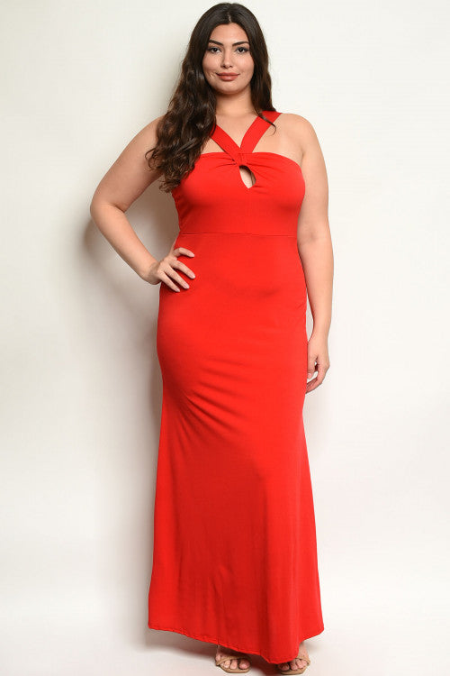 Amy Red Plus Size Maxi Dress