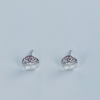 Sterling Silver Tree of Hearts Earrings