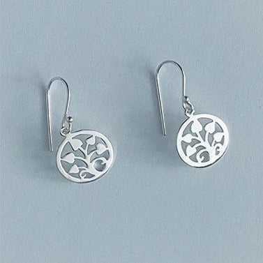 Sterling Silver Tree of Hearts Hook Earrings