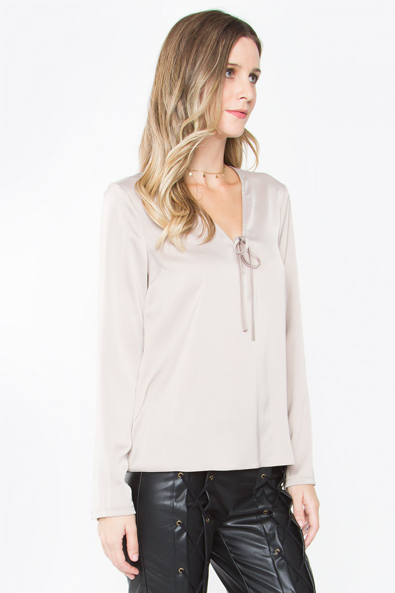 Cecille Front Tie Top
