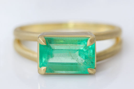2.09ct Colombian Emerald Ring