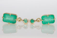 3.2ct Emerald Drop Studs