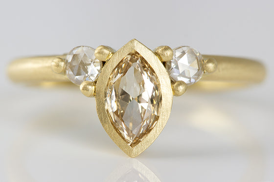 Pale Champagne Diamond Ring