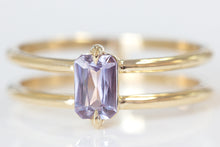 North South Lavender Sapphire Ring