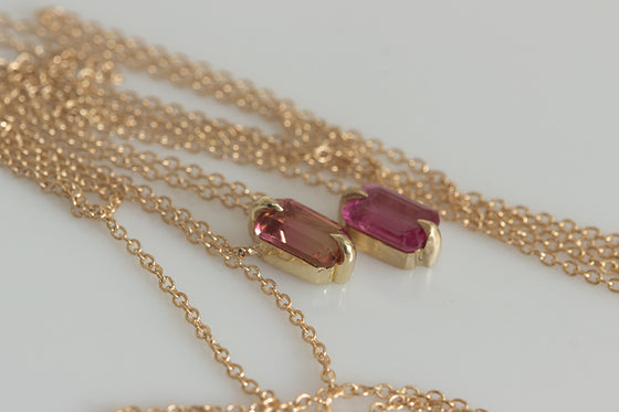 North/South Tourmaline Necklace