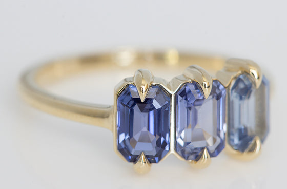 Blue Ombre Sapphire Ring