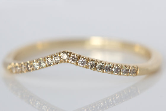 Champagne Diamond Dainty Stack Ring