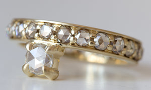 Offset Diamond with Eternity Band