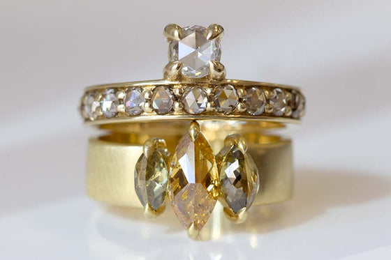 Triple Marquise Diamond Ring