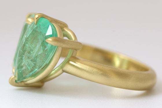 Colombian Emerald Double Stone Ring