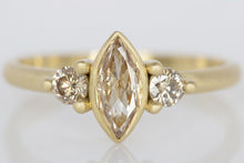Peachy Champagne Diamond Ring