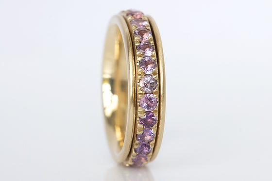 Ombre Lavender Spinner Ring