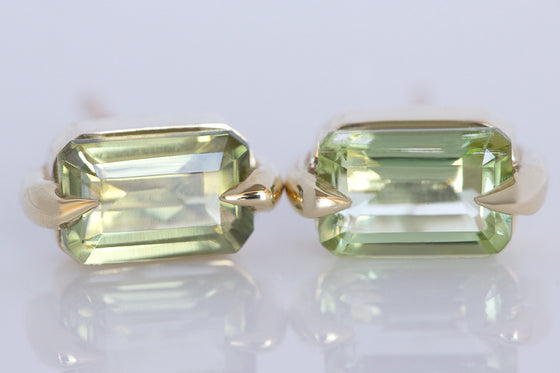 Mint Green Tourmaline Studs