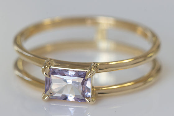 Pale Lavender Sapphire Ring