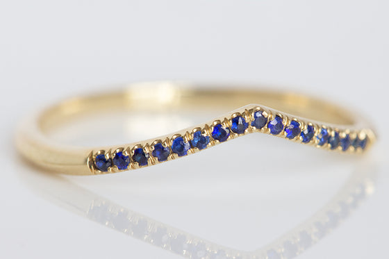 Sapphire Dainty Stack Ring