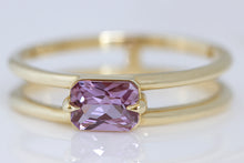 Radiant Cut Purple Sapphire Eagle Claw Ring