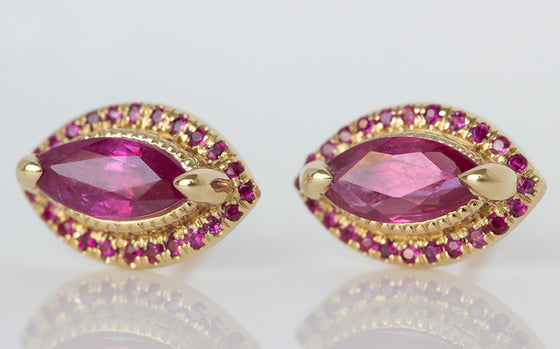 Ruby Marquise Studs