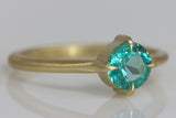 Brilliant Cut Emerald Ring