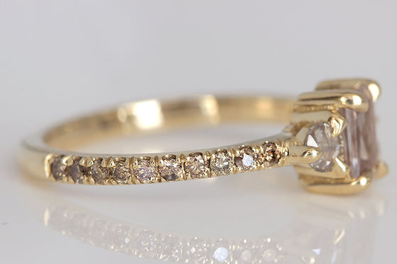 Champagne Sapphire & Diamond Ring