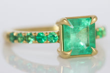 Colombian Emerald Ring with Euro Band